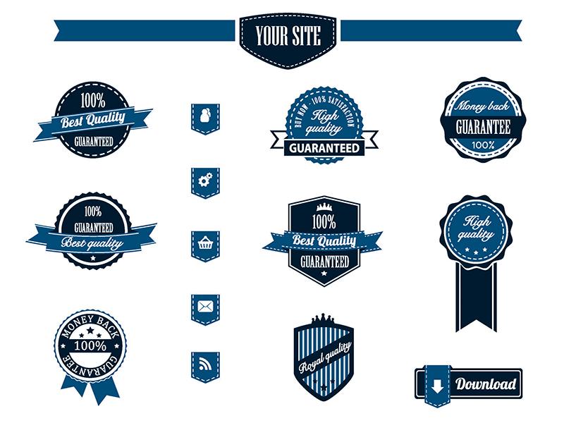 Retro Badges Vector Pack