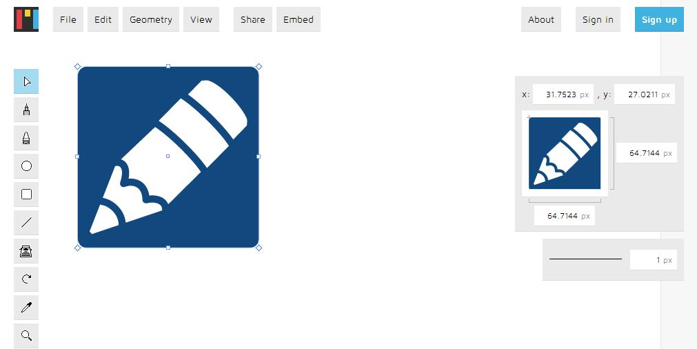 Mondrian Free Vector Graphics Online Editor