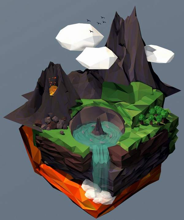 inspirational low poly designs
