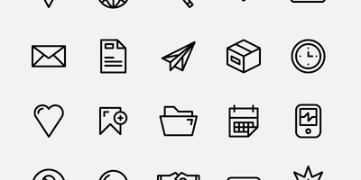 Free iOS7 style Outline Icons
