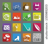 stock-vector-universal-flat-icons-for-web-and-mobile-applications-free-time-set-155985203