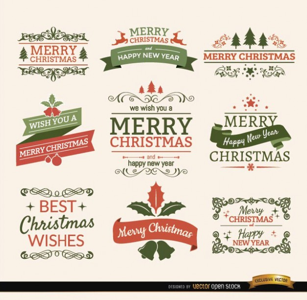15 Free Christmas And New Year Vectors