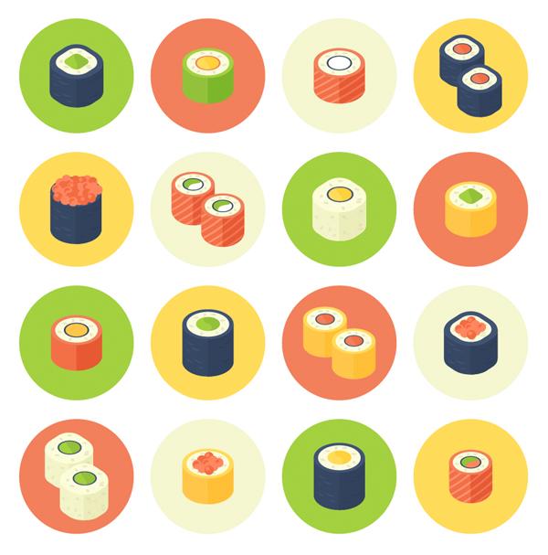 33-sushi-icons-roll-set