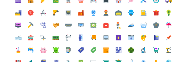 Free Download: 100 Icons
