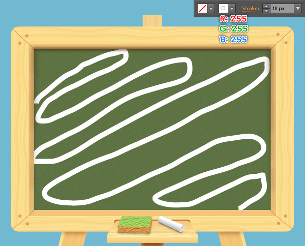 how to create chalkboard background in illustrator