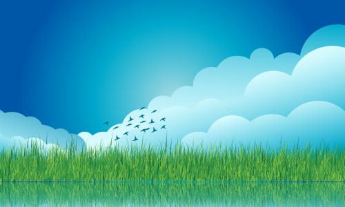 vector-cloud-grass-background