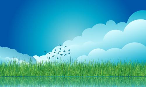 vector-cloud-grass-background