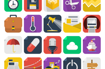24 flat icons pack Online vector drawing program