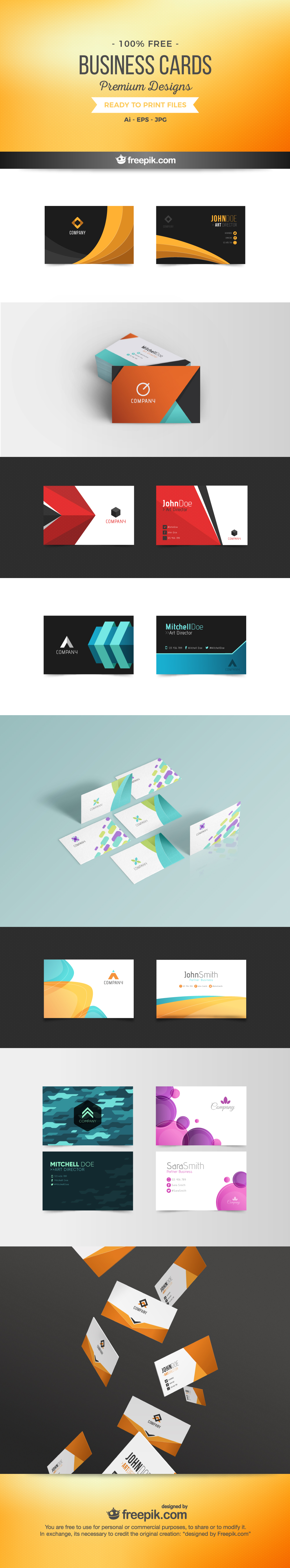 free premium business cards on vectorgraphit