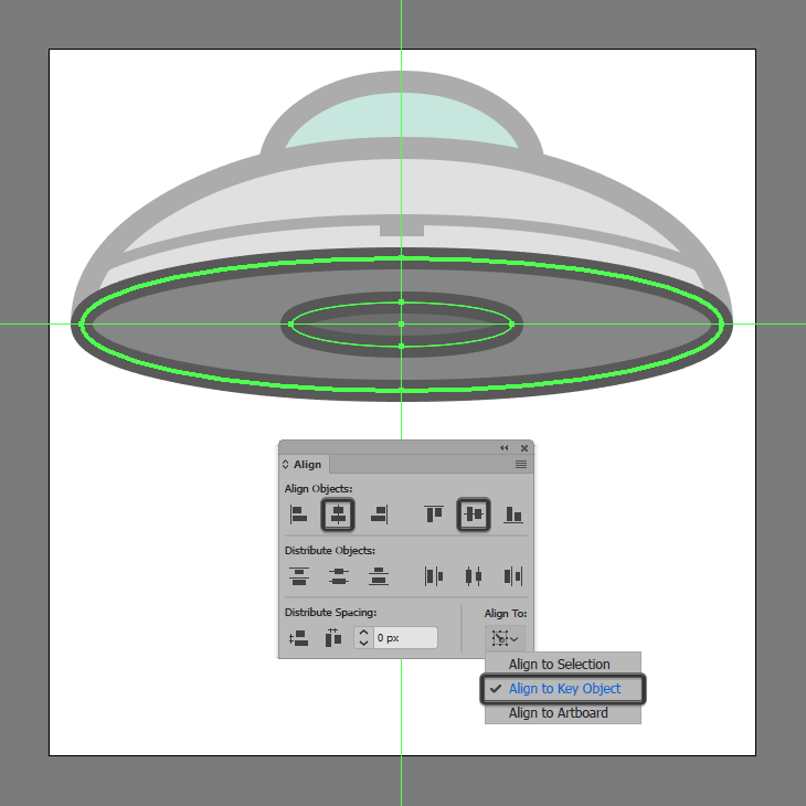 How to Create a UFO Icon - Adobe Illustrator Tutorial