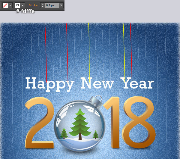 adobe illustrator tutorial create a happy new year greeting card