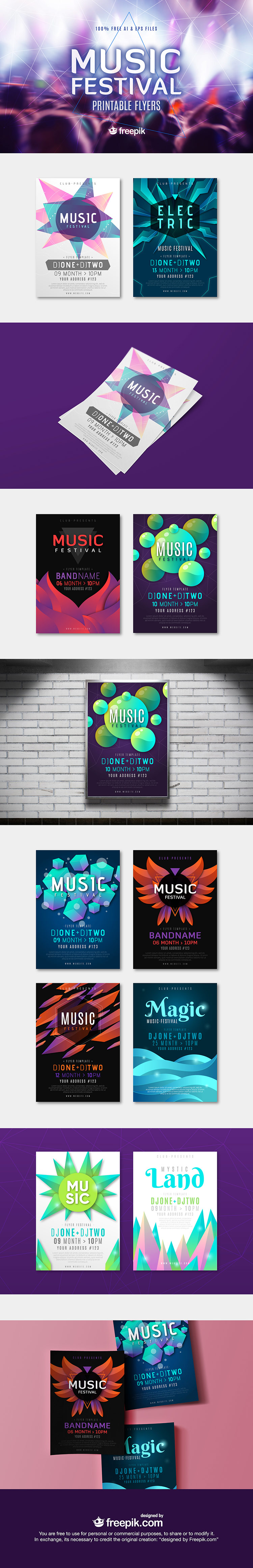 Free Download - Music Festival Flyers - Vectorgraphit